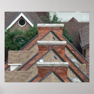 Zoll x der Dachspitze-Geometrie 20 24 Zoll Plakat