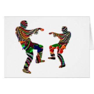 Zombi Tanz HappyHolidays Druck-SKRIPT Grußkarte