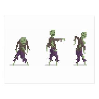 Zombie-8-Bitpixel-Kunst-Postkarte Postkarte