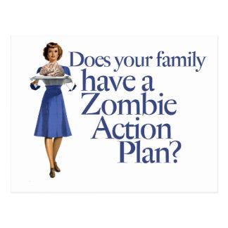 Zombie-Aktionsplan-Vintage Art Postkarte
