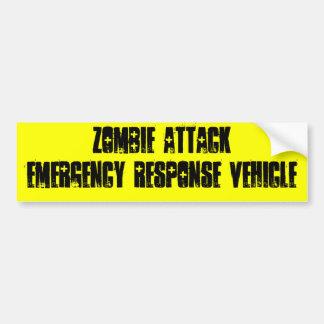 Zombie-Angriff Autoaufkleber