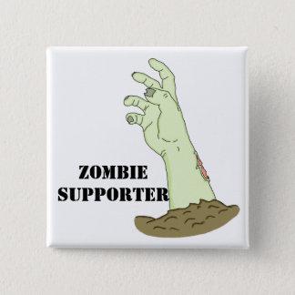 Zombie-Anhänger Quadratischer Button 5,1 Cm