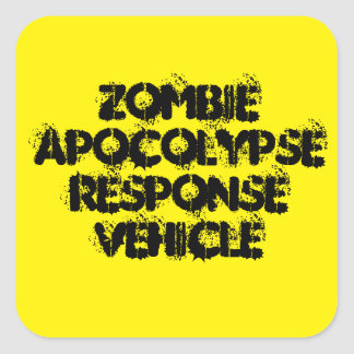 Zombie Apocolypse Wartefahrzeug Quadratischer Aufkleber