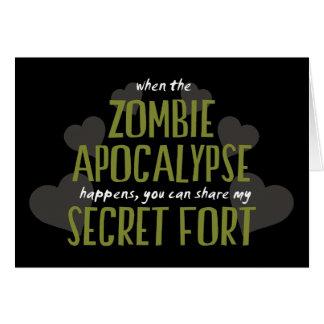 Zombie-Apokalypse-Fort Karte