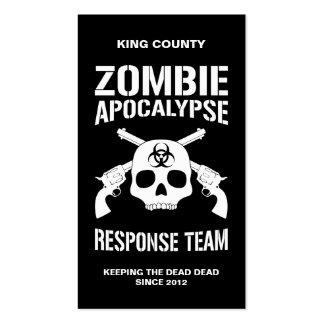 Zombie-Apokalypse Visitenkarten