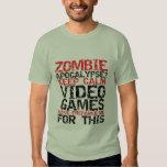 Zombie-ApokalypseGamers behalten ruhigen lustigen Shirt