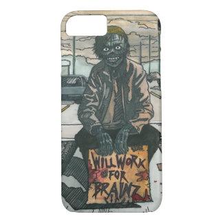 Zombie arbeitet für Brainz iPhone 8/7 Hülle