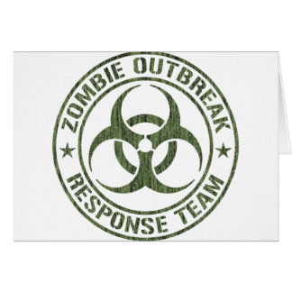 Zombie-Ausbruch-Warteteam Grußkarte