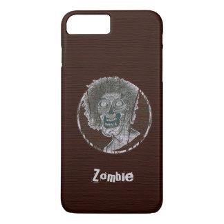 Zombie beunruhigt, grafisches Rotes/Grau schauend iPhone 8 Plus/7 Plus Hülle