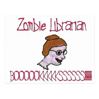 Zombie-Bibliothekar Postkarte