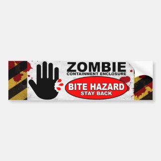 Zombie-Biss-Gefahr Autoaufkleber
