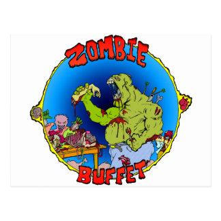 Zombie-Buffet Postkarte