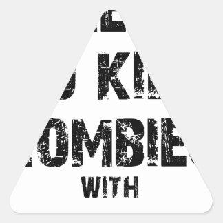 Zombie-Bürgschaft Merch Dreieckiger Aufkleber