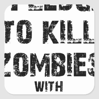 Zombie-Bürgschaft Merch Quadratischer Aufkleber