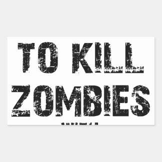 Zombie-Bürgschaft Merch Rechteckiger Aufkleber