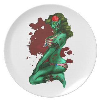 Zombie Button-Oben Platte Flache Teller