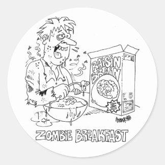 Zombie-Cartoon-klassische runde Aufkleber