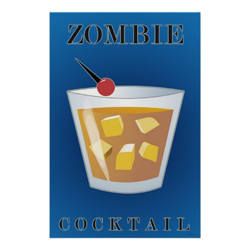 Zombie-Cocktail Poster