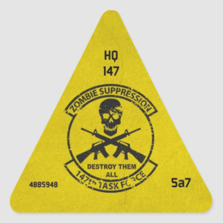 Zombie-Einheit Identifikations-Aufkleber 147. Dreiecks-Aufkleber