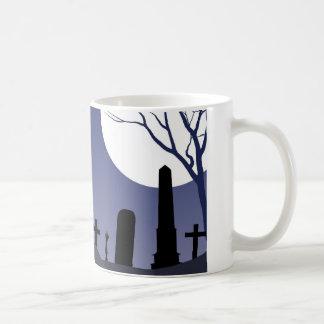 Zombie-Friedhof Halloween Kaffeetasse