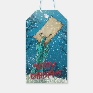 Zombie-frohe Weihnacht-Feiertag Geschenkanhänger