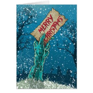 Zombie-frohe Weihnacht-Feiertag Karte