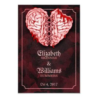 Zombie-Gehirne, die UAWG Karte Wedding sind 8,9 X 12,7 Cm Einladungskarte