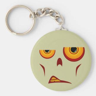 Zombie-Gesicht - Knäuel Keychain Standard Runder Schlüsselanhänger