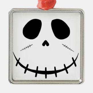 Zombie-Gesicht Silbernes Ornament