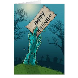 Zombie glückliches Halloween Karte