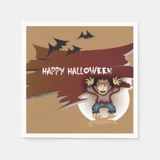 Zombie glückliches Halloween Serviette