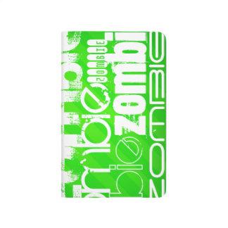 Zombie; Grüne Neonstreifen Taschennotizbuch
