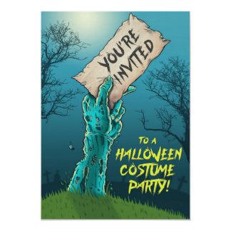 Zombie-Halloween-Kostüm-Party Einladung