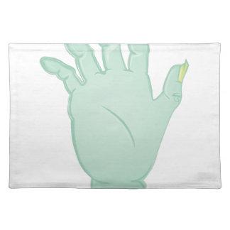 Zombie-Hand Tischset