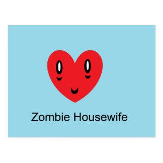 Zombie-Hausfrau Postkarte