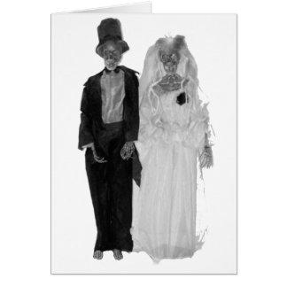 Zombie-Hochzeit Karte