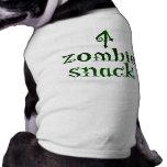 Zombie-Imbiss - Haustier-T-Stück Hund Tshirts