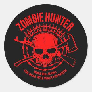 Zombie-Jäger-Aufkleber Runder Aufkleber
