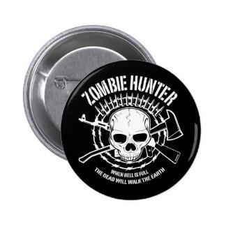 Zombie-Jäger-Knopf Runder Button 5,1 Cm