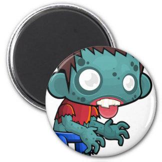 Zombie-Jungen-Comic Runder Magnet 5,1 Cm