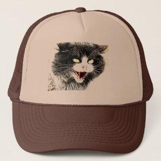 Zombie-Katzen-Fernlastfahrer-Hut Truckerkappe