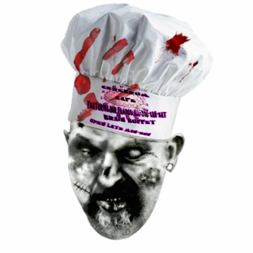Zombie-Koch Foto Ausschnitte
