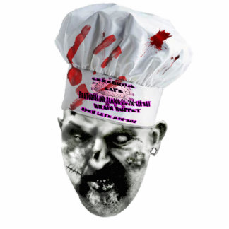 Zombie-Koch Fotoskulptur Schlüsselanhänger