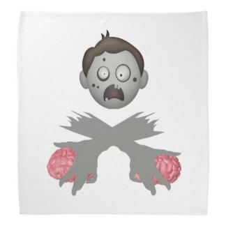 Zombie-Kopf gekreuzte Arme u. Gehirne Kopftuch