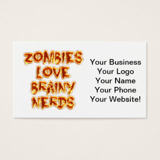 Zombie-Liebe-Brainy Nerds Visitenkarte