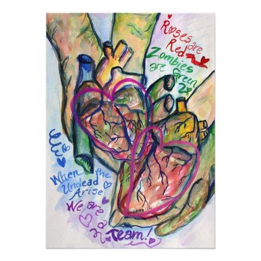 Zombie-Liebe-Gedicht-Kunst-Malerei-Einladungen