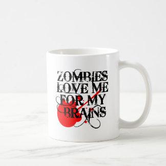Zombie-Liebe ich für mein Gehirn Kaffeetasse