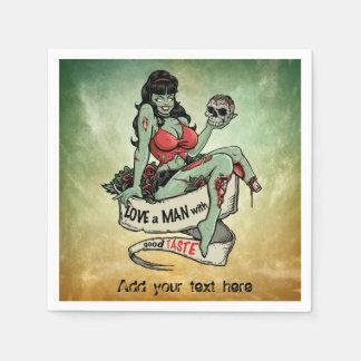 Zombie-Liebe Serviette