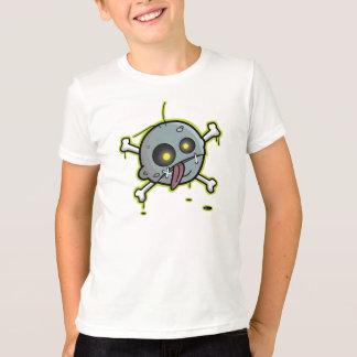 Zombie mit Knochen-Kinderblauem Wecker-T - Shirt