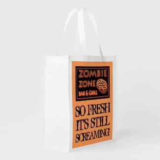 Zombie-Nahrung so neues ruhiges schreiendes Wiederverwendbare Einkaufstasche